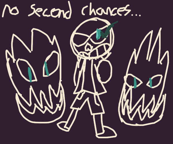angry sans with gaster blasters