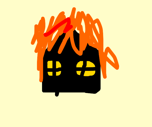 Exploding house (black sillouete) UCK