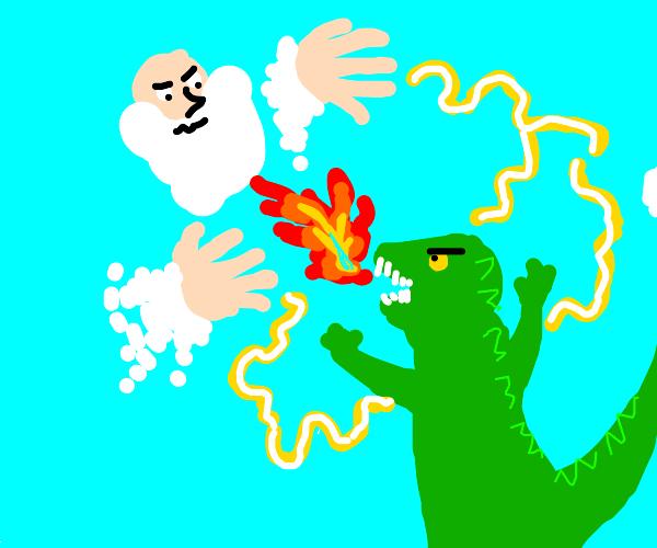 god's epic fight against godzilla