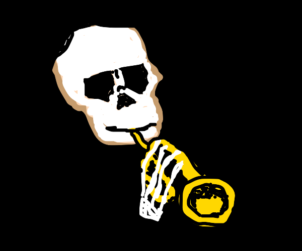 Skeleton with trumpet