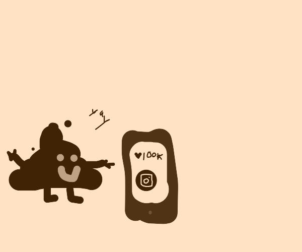 Poop emoji is very good at social media