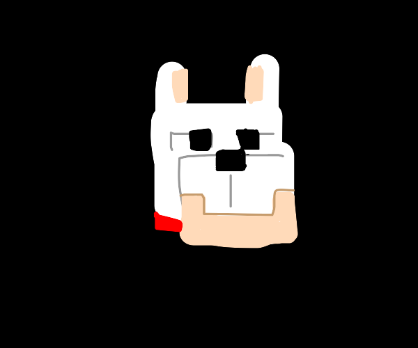 Minecraft wolf head