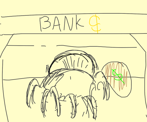 Bull spider commits robbery