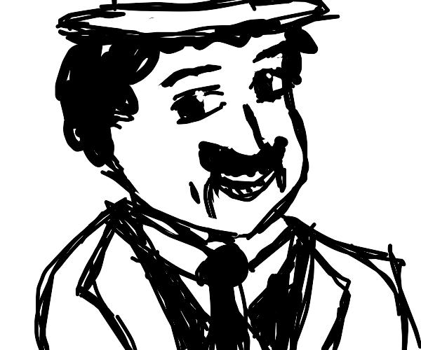 portrait of Charlie Chaplin (detailed)