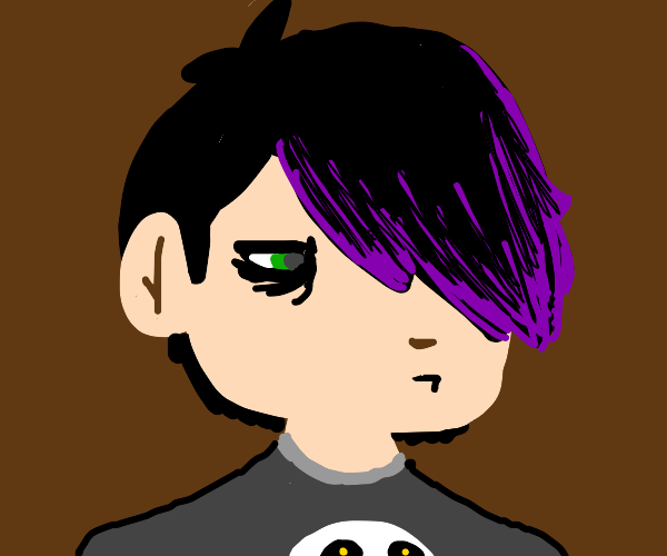 Man with generic emo hairstyle