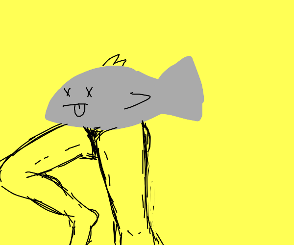 Fish with human legs