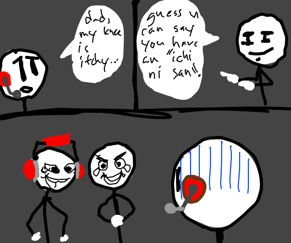 stick people embarass there stick sons
