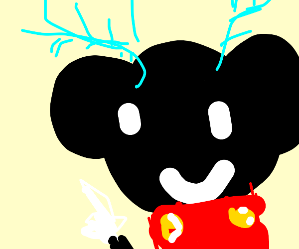 Mickey Mouse with antlers