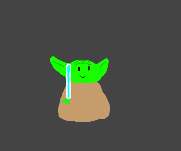 Yoda with lightsaber