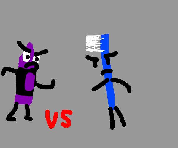 Crayon vs toothbrush