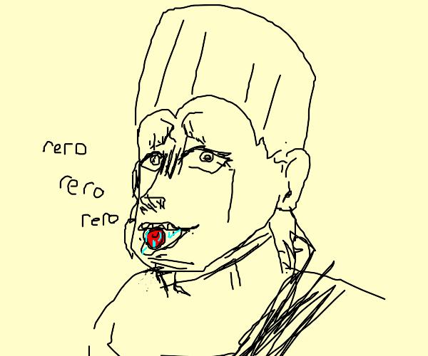 Polnareff does the rero rero