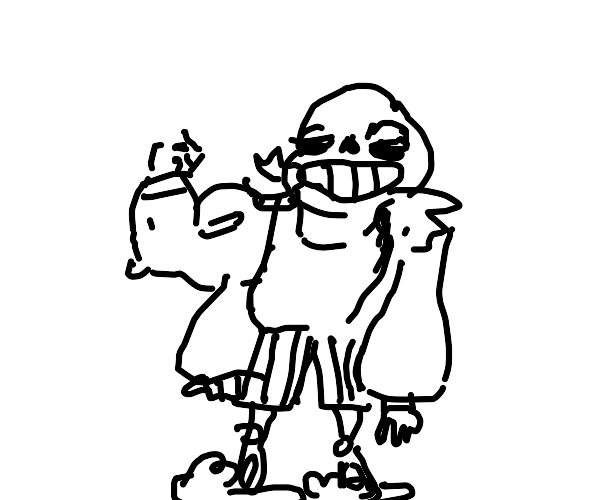 Sans with abnormally buff arms