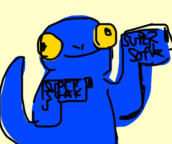blue gecko has super-soaker hands