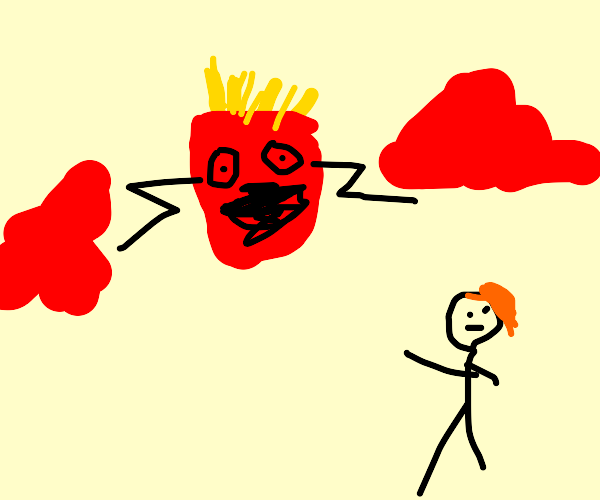 fries create red clouds and ginger watches