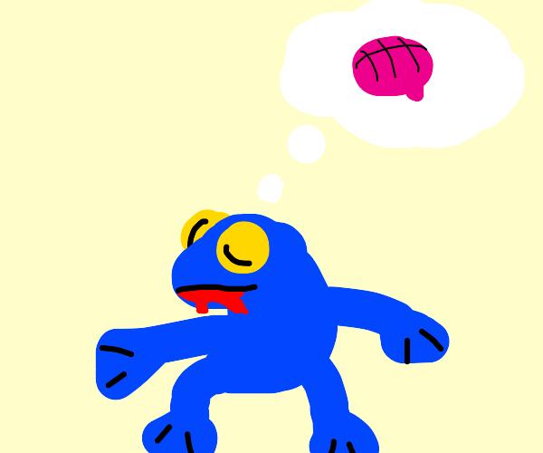 Blue Zombie Frog wants brains