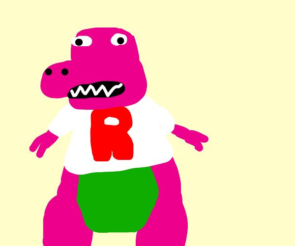 Team Rocket person as Barney