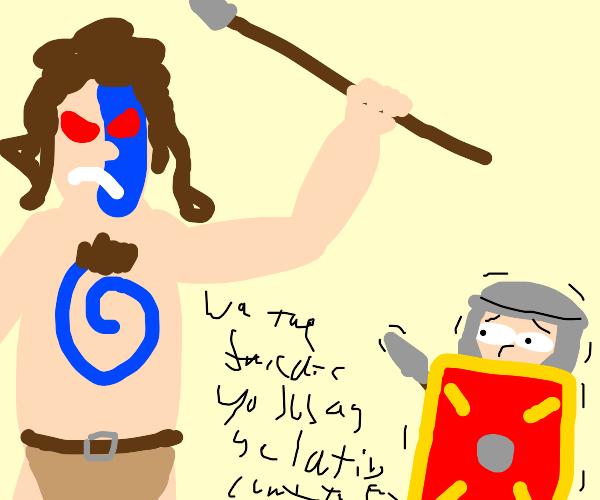 unintelligible indigenous person