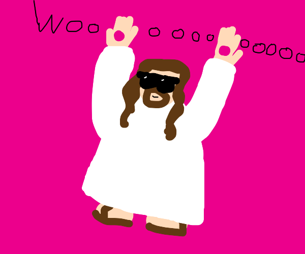 Jesus with his hands up