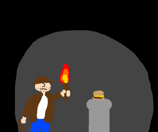 Indiana Jones artefact replaced with burger