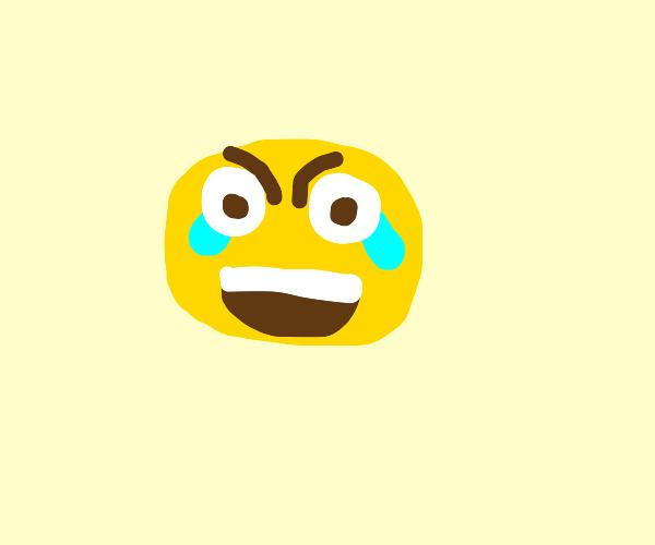 eyes open laughing/crying emoji