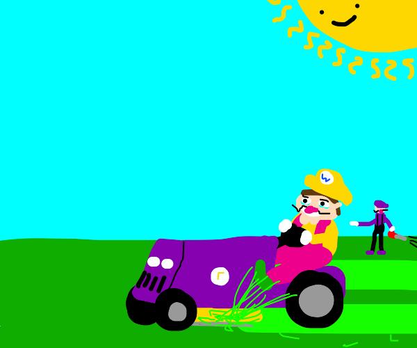 Wario and waluigi lawn service