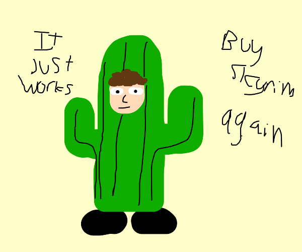 todd howard in a cactus costume