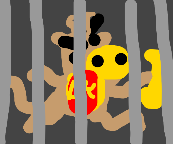 Donkey Kong in jail