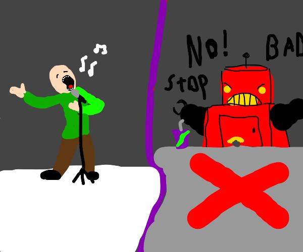 Robot destroys people's feelings
