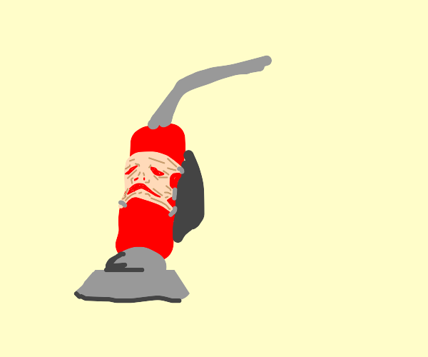 vacuum cleaner with a face