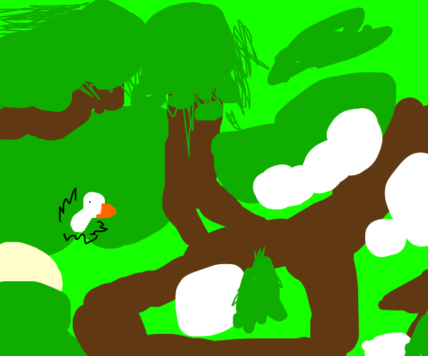 the beginning of untitled goose game