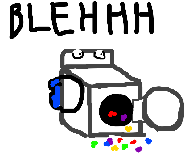 waching machine is puking jelly beans