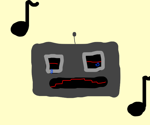 depressed robot has a dance  party