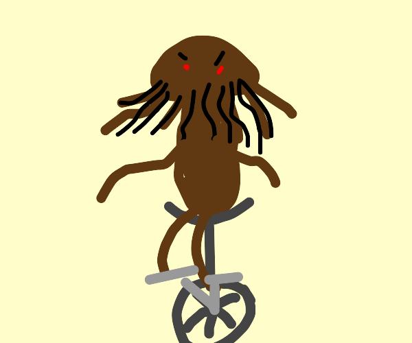 cthulu on a unicicle