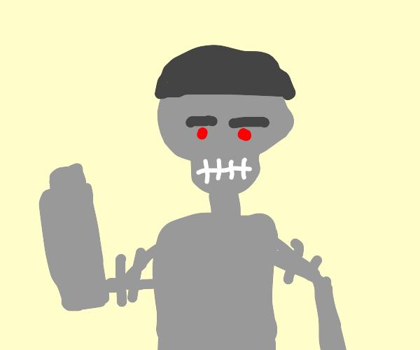 The terminator has a flat cap