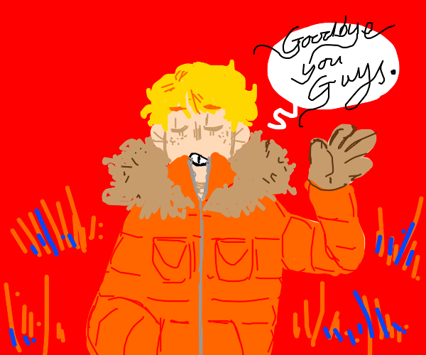 Kenny from South Park bids farewell