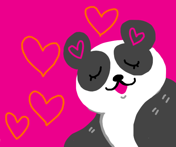 Panda wishes u a happy valentine