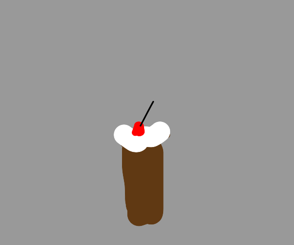 Coke ice cream float with a cherry on top.