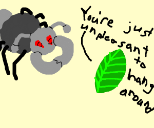 stuck-up ant pokemon lectured by leaf