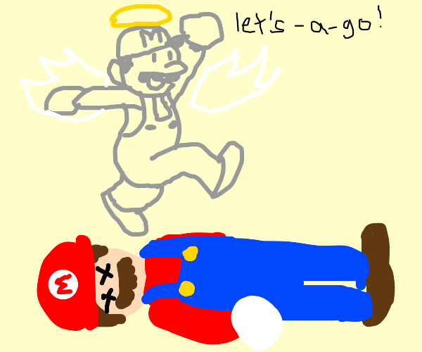 mario accepts death and goes to heaven