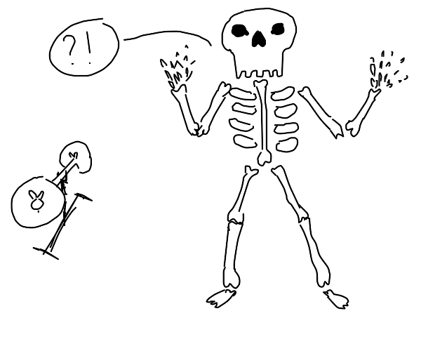 skeleton doesn't know to excerise