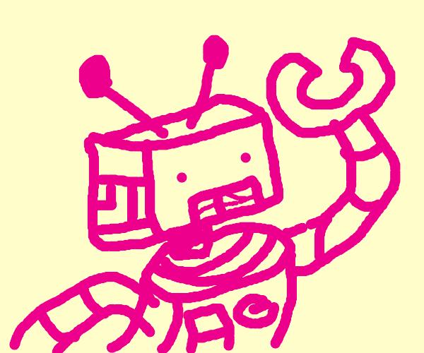 Pink robot