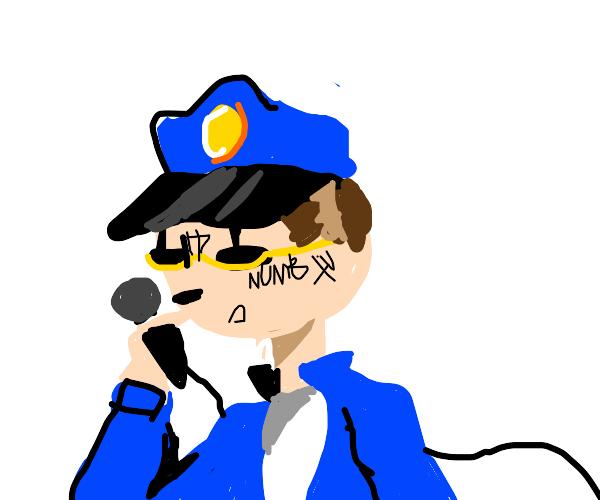 rapping policeman