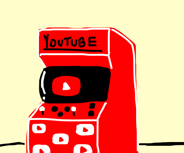 An arcade game but it's YouTube