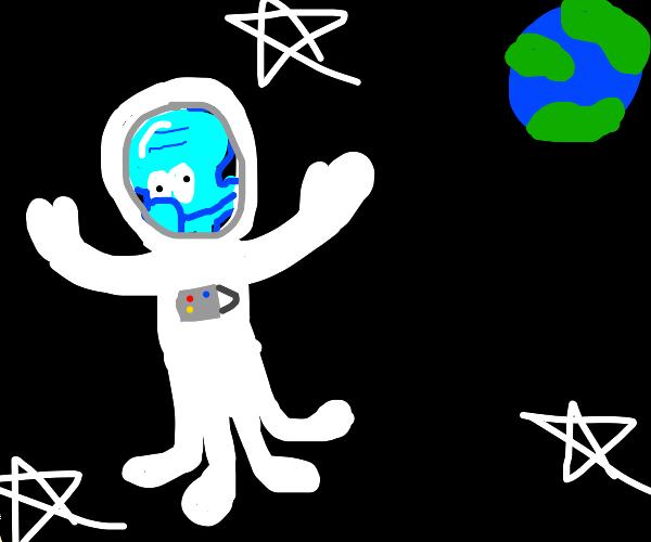 Squidward astronaught