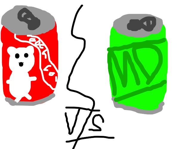 coke vs mnt dew