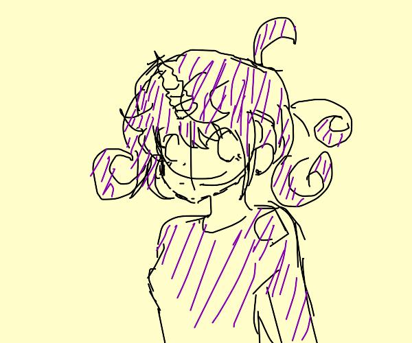 purple mlp unicorn with terf bangs
