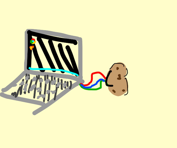 laptop powered by a potato