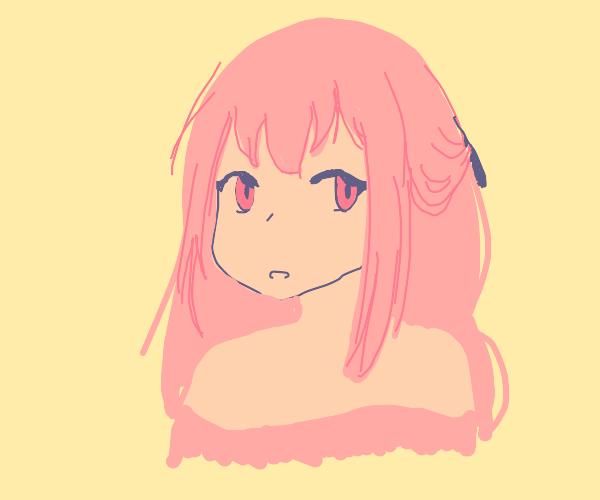 cute lil anime girl w/ pink hair