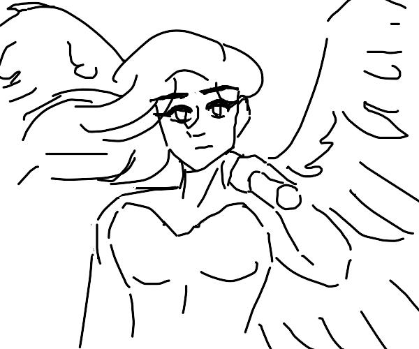 Hot angel warrioress
