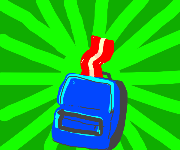 bacon in a backpack